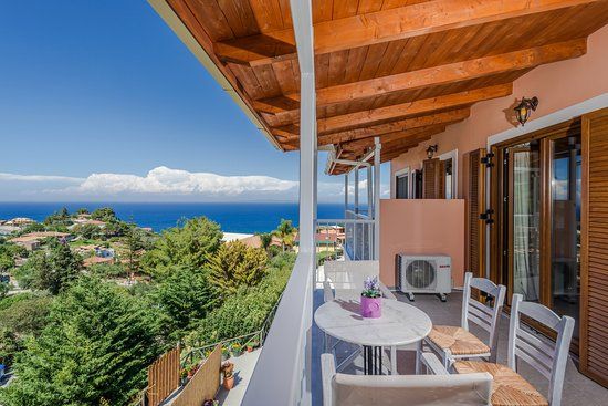 Sea View Village: split-level suite balcony view