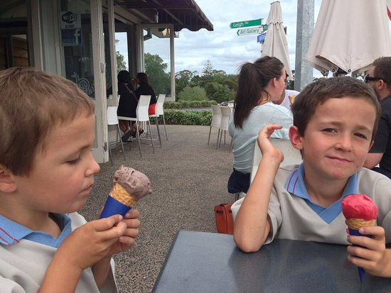 Charlie's Gelato Garden: An outing after school with Granny