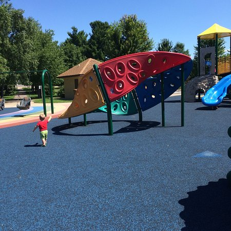 Stevens Point, WI: This is a very large and fun place for kids of all ages to play. Lots of room to run, climb and