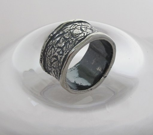 "Arroyo Seco, Nuovo Messico: ""Bravo"" Sterling silver ring"