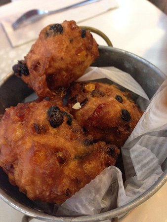 Westport, MA: corn & black bean fritters