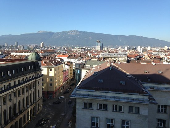 Grand Hotel Sofia: Photo from our balcony