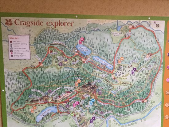 Explorer map Picture of Cragside House and Gardens Rothbury