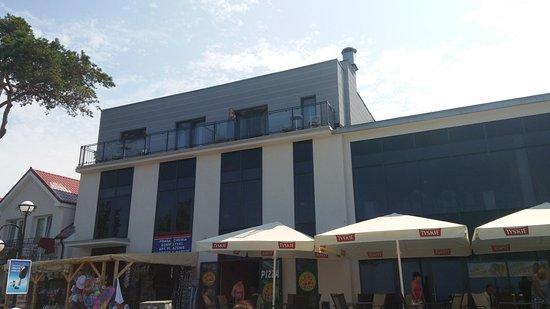 Rewal, Polska: Widok na segment z pok.H03 i H04