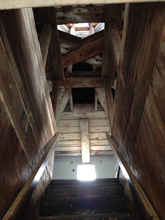 Edgecomb, ME: Look at the workmanship as you look up the stairs to the second floor.