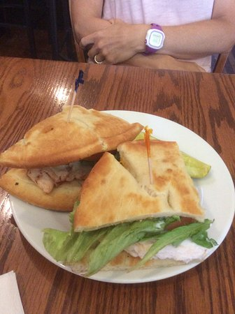 Walkerton, Canada: Chicken breast Club House on a ciabatta