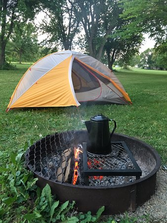 Waunakee, WI: Camping at Mendota Park is a great weekend escape