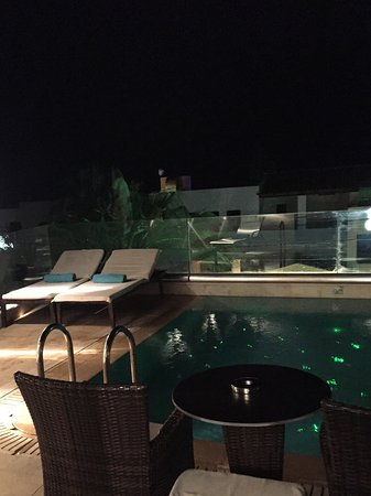 Castello Boutique Resort & Spa: Pool room and terrace - evening