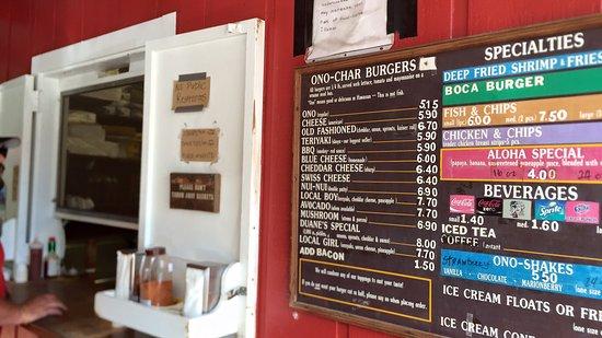 Anahola, هاواي: Duane's Ono Char-Burger