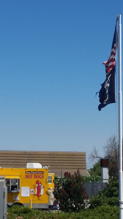 Rio Vista, CA: Our USA flag in the foreground