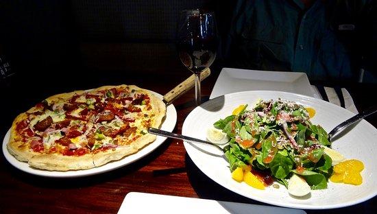 Timberwolf Pizza & Pasta Cafe: Rocky Mountain Pizza and Fresh Caesar Salad w/Oranges, Berries Etc.