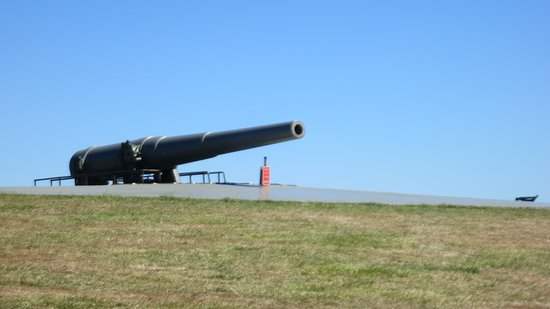 Coupeville, WA: most of the fort is hidden from the ocean, except a couple of big guns like this one.