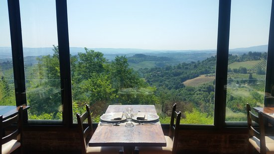 morning view from restaurant (below the terrace) - picture of ... - Bel Soggiorno San Gimignano Restaurant