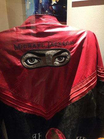 Museum of the Gulf Coast: MJ's world tour jacket.
