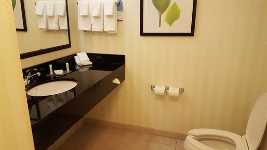 Fairfield Inn & Suites Melbourne Palm Bay/Viera: Spacious bathroom