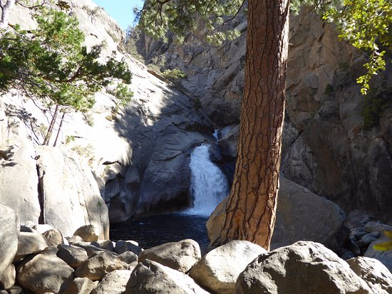 Three Rivers, CA: The ROARING falls, even in the summer it is in full swing.