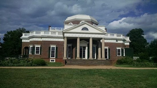 Thomas Jefferson's Monticello: the view on the Nickle.