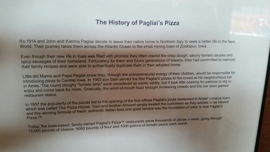 Grinnell, IA: History of Pagliai's
