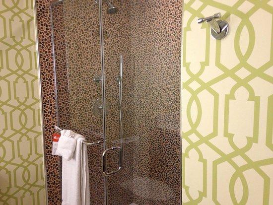 Hotel Indigo Anaheim: Bathroom With Multi Head Shower System.