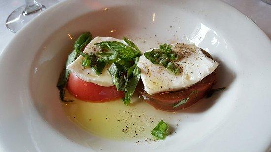 al Vento: Caprese with heirloom tomatoes