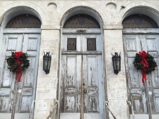 Marigny Opera House Entrance Dressed For The Holidays