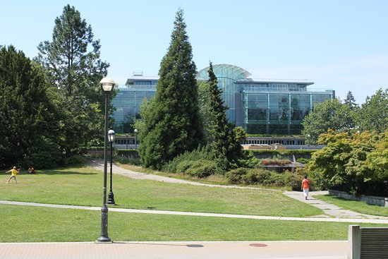 University of British Columbia: UBC Library shaped like an open book