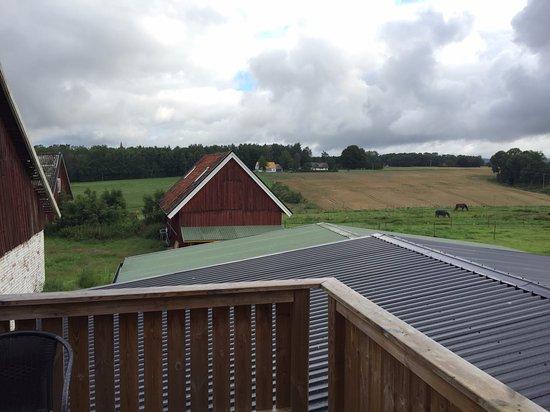 Klippan, Szwecja: uitzicht vanaf balkon
