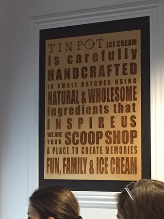 Tin Pot Creamery: Tin Pot Ice Cream store