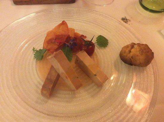 La Gloriette : Foie gras aux tomates