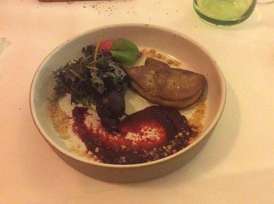 La Gloriette : Foie gras poêlé à la betterave rouge