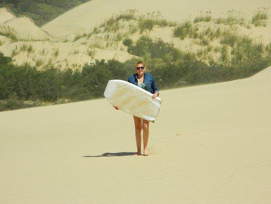 Pukenui, Новая Зеландия: Sand Dune Surfing
