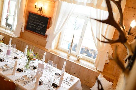 Alpengasthaus Edelweiss: Hochzeitstisch im Edelweiss