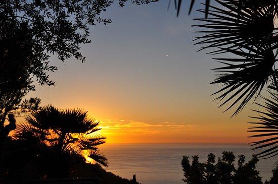 Sa Plana Hotel: Dîner - coucher de soleil