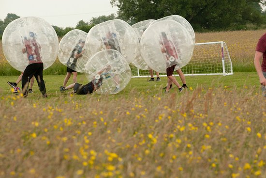 Almondsbury, UK: Corporate Day zorbing at Mojo Active