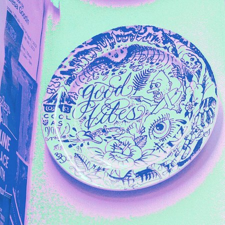 Elixir: The plate as a decor there