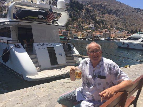 Hotel Solemar: Wilf on the Isle of Symi, July 2016