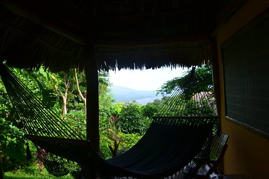 Totoco Eco-Lodge: there's a hammock by the door to your room