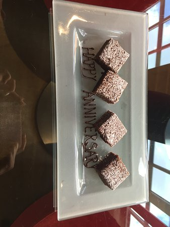 The May Fair Hotel: Gift of Brownies for our anniversary
