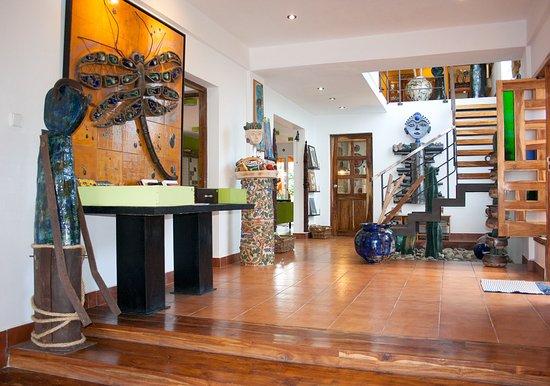 estudio taller santacana main floor ceramic murals sculptures tiles and author pottery
