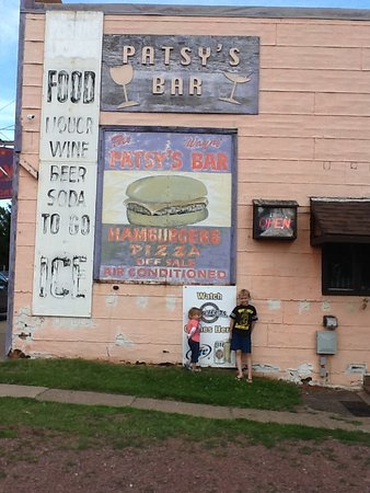 Washburn, WI: outside of the bar Patsy's