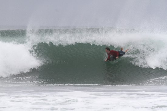 Las Salinas, Nicarágua: One of the body boarders in our group gets a great barrel.