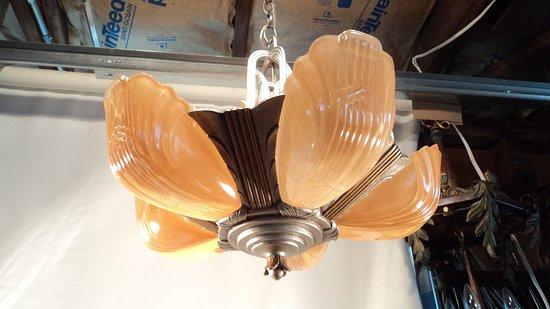 1930s slip shade chandelier picture of wolffs flea market wolffs flea market 1930s slip shade chandelier aloadofball Gallery