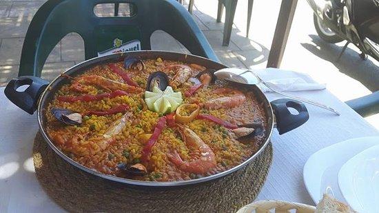 Arenas, España: Zalige paella (enkel op bestelling)