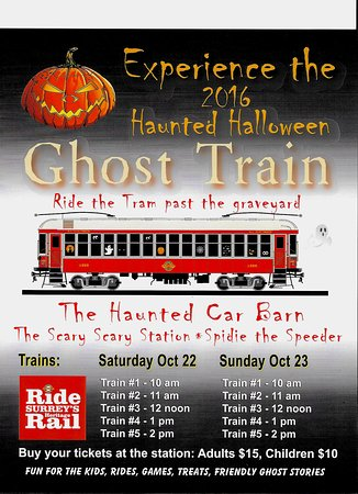 Surrey, Canada: The Halloween train runs again.