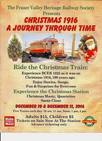 Surrey, Canada: The Christmas train runs for the first time this year.