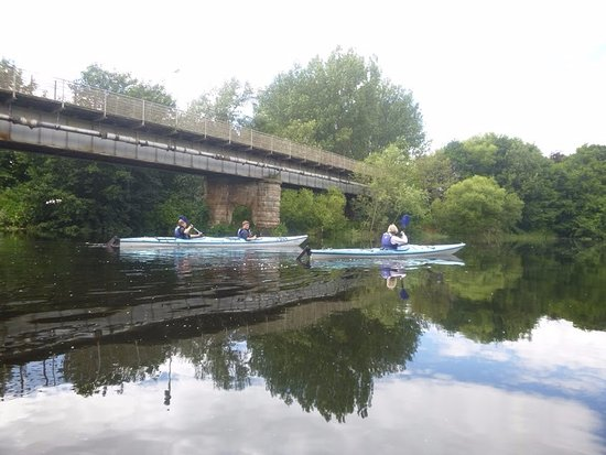 Blairgowrie, UK: Kayaking on the River Tay,