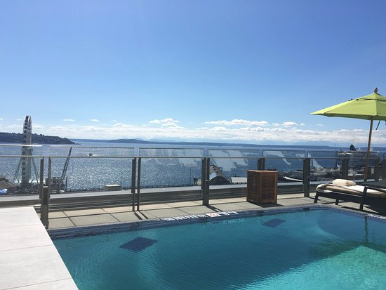 Four Seasons Hotel Seattle: View from the pool.