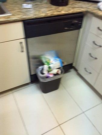 Residence Inn Erie: Trash housekeeping leaves.