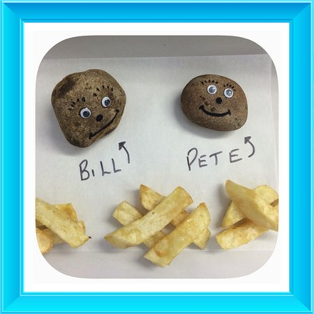 The girls asked for paper weights, meet Pete & Bill, all the way from Lincolnshire in a bag of s