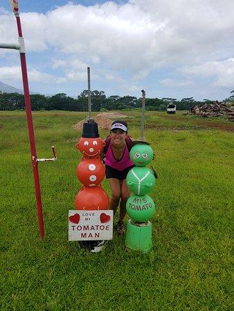 Kilauea, Hawaï: Random tomato people
